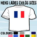 FRANCE FRENCH FLAG EMBLEM T-SHIRT ALL SIZES & COLOURS
